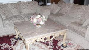 MARBLE COFFEE TABLE & END TABLES