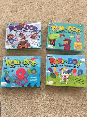 4 Poke-a-Dot Toddler Books