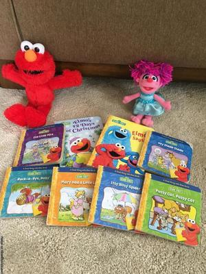 Elmo Toddler Books and stuffed Elmo