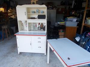 Hoosier Cabinet and Table