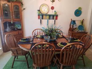Dining room set,corner china cabinet,wash stand PLUS CHINA