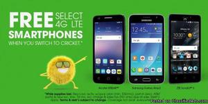 MAKE THE SWITCH TO CRICKET WIRELESS AND GET A FREE PHONE