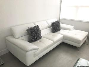 "Snow white Italian Sectional 105"" wide x 64"" Deep"