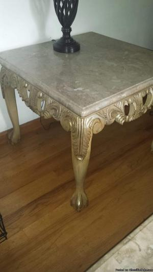 4 Marble Top Tables