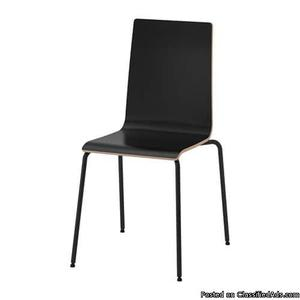 IKEA MARTIN Chair, black a set of 4 for $60