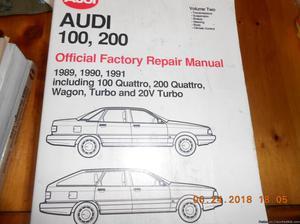 Audi  Official Repair Manual Volume 2