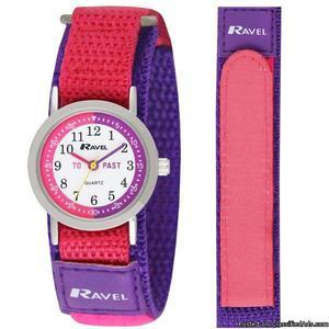 Ravel Time teacher Children's Quartz Watch White Dial Velcro