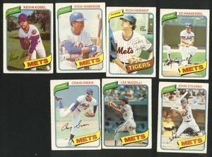 12 Card Lot  And  O Pee Chee New York Mets