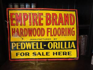 Antique 's Empire Hardwood Flooring Tin Sign Pedwell -