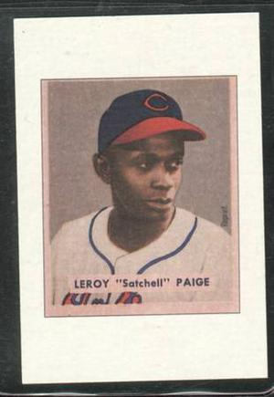 Bowman Reprint Satchell Paige Cleveland Indians