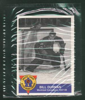 Montreal Canadiens Bill Durnan Card