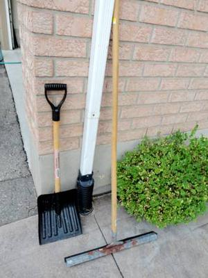 One Floor Squeegee and One Easy to handle Snow Shovel