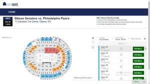 Ottawa Senators vs. Philadelphia Flyers (Upper 301 Row H)