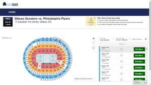 Ottawa Senators vs. Philadelphia Flyers (Upper 316 Row L)