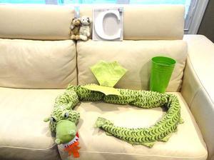 Some Kids Toys - Large Plush Dragon, 2 Plush Bears, White