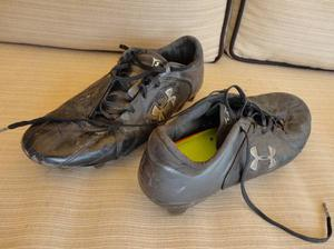 Under Armour XCore Speed Black Leather Soccer Shoes Size 8