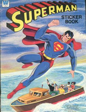 Whitman Superman Sticker Book