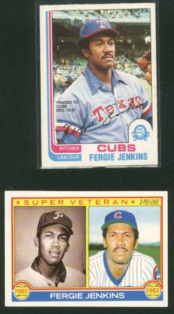 s Chicago Cubs Cards Fergie Jenkins