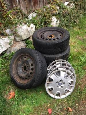 """16"""" Steel Rims, Volvo Wheel Covers and Winter Tires"""