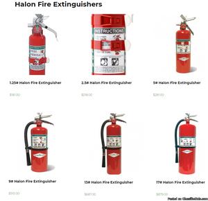 Halon Fire Extinguishers | Halotron Fire Extinguishers |