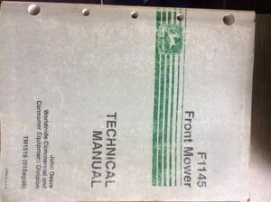 Service and parts manual John Deere F Mower