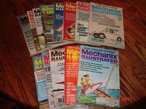 Vintage Lot of 13 Mechanix Illustrated Magazines