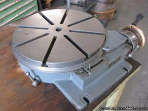 "HAUSER 12"" Low Profile Precision Rotary Table. Swiss Made!"