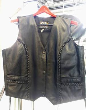 Ladies Genuine Leather Vest and Pairs of Chaps