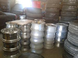 New and used tires and rims in various sizes