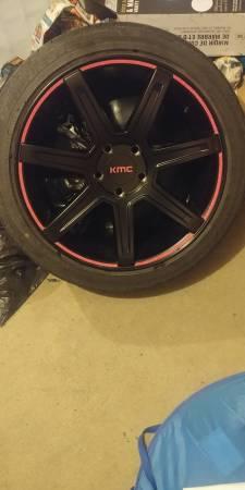 "20"" kmc wheels& tires"