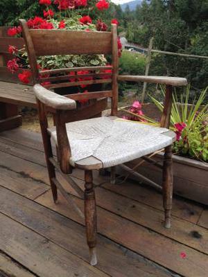 Beautiful weathered rustic Garden Chair