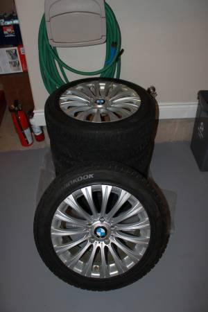 Lightly Used BMW 3 Series Snow Tires & Rims