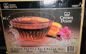 Anchor Hawking Crown Point 18 pc Service for 8 Punch Bowl