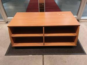 Birch Wood TV Stand Media Centre Bench On Wheels Can Deliver