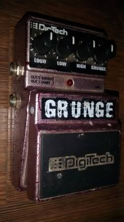 Digitech Grunge electric guitar pedal.Older pedal that