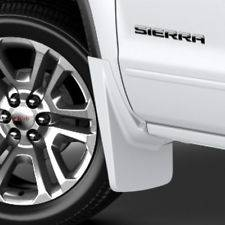 GM Front Molded White Mud Guards  GMC Sierra BRAND