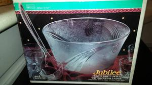 Jubilee Punch/Party Bowl with 8 Cups Set in Box