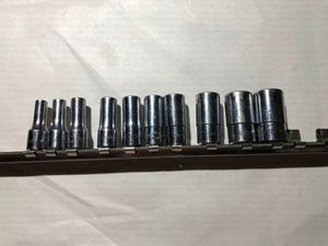 Snap On 6 point semi-deep sockets set-Good Condition