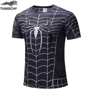 Spider Man t shirt men fitness men t shirts Large