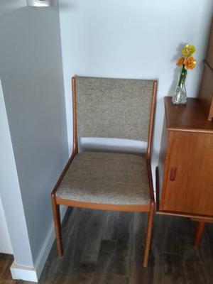 @@@ TEAK dining chairs x2