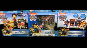 Paw Patrol 3 Game Pack, Jumbo Playing Cards, Puzzle, Popper