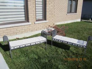 Wrought Iron Benches (2)