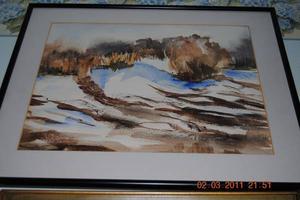 Beautiful Watercolor White Rock Linda Patzoll
