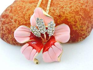 Pink Flower Necklace Jewelry