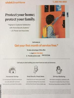 First Month Of Vivint Smart Home Security Free