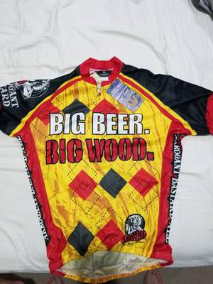 New with tags: Big Beer Big Wood Biking Jersey