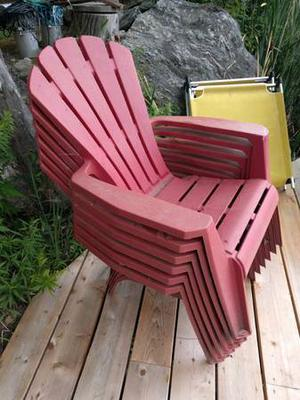 Cottage & Boathouse Sale, chairs, tables, Kayak, artwork,
