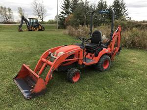Kubota BX25 4X4 Compact Tractor Loader Backhoe
