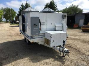 Mobile AC Heating Unit On A 12 Foot Miska Deck Over Trailer