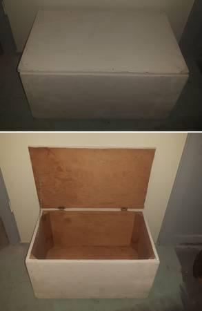 White Homemade Wooden Box